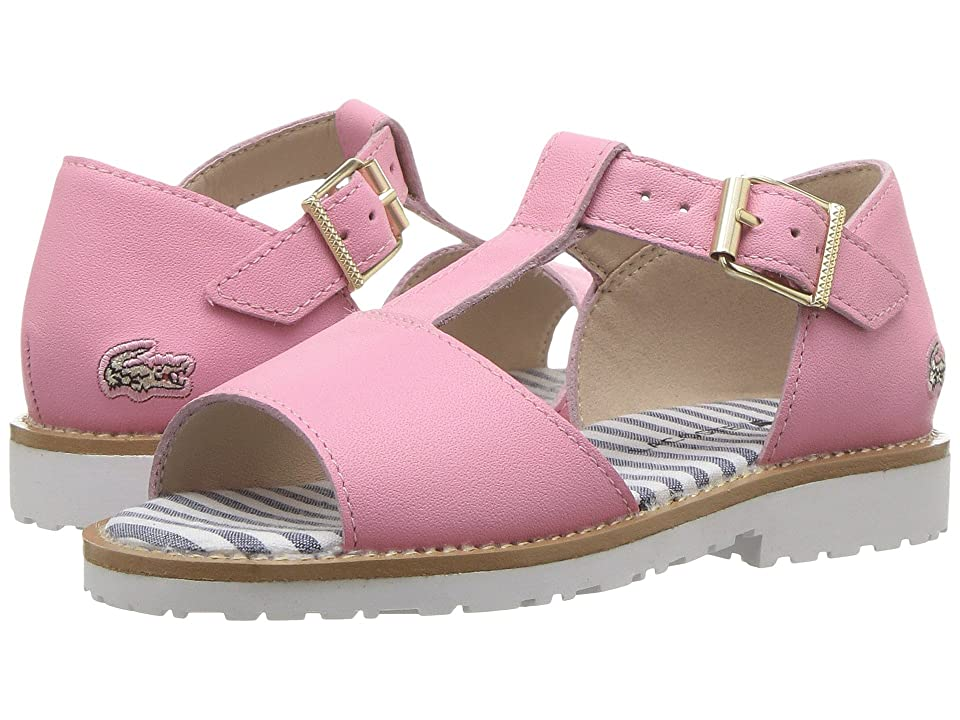 Lacoste Kids Jardena Sandal 217 1 (Toddler) (Pink/White) Girls Shoes