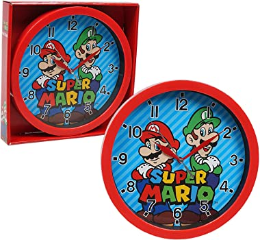 Accutime Watch Corp Super Mario Frame Wall Clock Nice for Gift or Office Home Wall Decor 9.5""