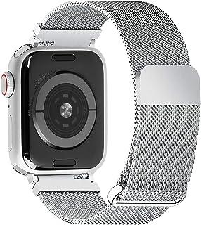 Fullmosa Apple Watch 4対応バンド 44mm,全4色 アップルウォッチ バンド ベルトWEBミラネーゼ メッシュバンド Apple ウォッチ4 用 交換ベルトステンレス製 44mm シルバー