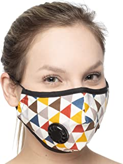 Debrief Me Dust Mask – Anti Pollution Breathable Respirator Mask (1 Mask + 6 Filters) Military Grade N99 Flu Mask Carbon Activated Filtration - Reusable Washable - Comfy Cotton Adjust (Modern English)