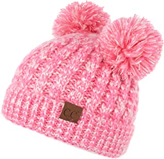 C.C Hatsandscarf Exclusives Cable Knit Double Pom Winter Beanie (HAT-60)