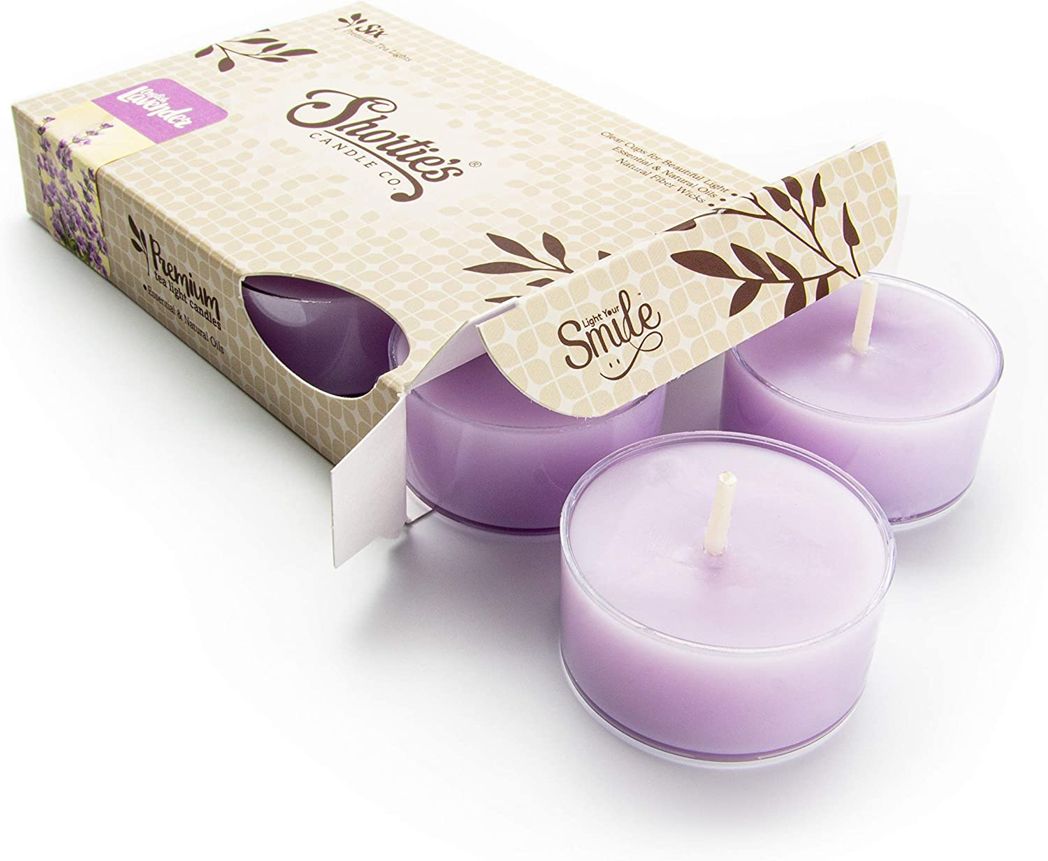 Pure English Lavender Tealight Candles Highly Ess Super beauty product restock quality Dedication top with Scented -