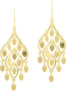 Best 14k yellow gold chandelier earrings Reviews