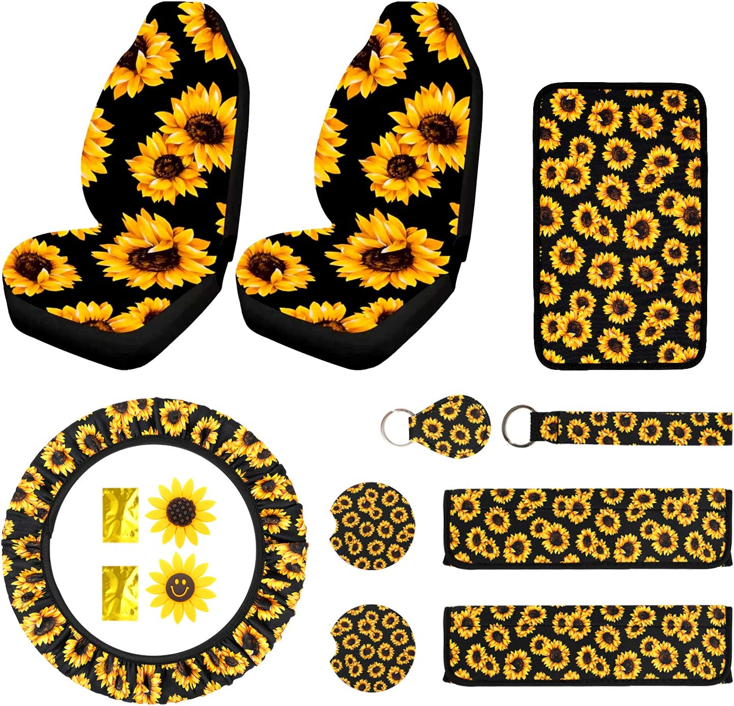 12PCS Sunflower Car Accessories Set Surprise price Front Seat Cover Ranking TOP7 Include