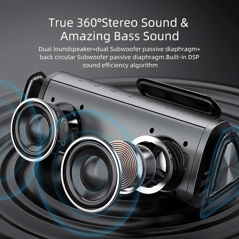LITONGFU Bluetooth Speakerportable Bluetooth Speaker 360/° Stereo Sound 20W /Ipx7 Waterproof Wireless Bluetooth 5.0 Speaker 24 Hour Play Time