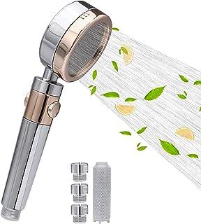 レモンVC美肌シャワーベッド、浄水、高圧節水シャワーベッド、硬水軟化剤として用いられ、シャワーベッド 塩素除去、活性炭フィルターシャワーベッド、ミカンの香り、ヘアケアと肌ケア、皮膚の乾燥、アレルギー、かゆみの問題、脱毛問題に役立ちます。国際標準...