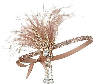 1920s Flapper Headpiece Roaring 20s Accessories for Women Great Gatsby Headband Costume