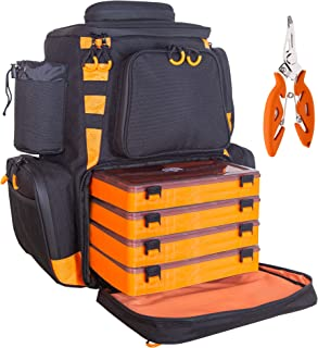 Details about  /Waterproof Fishing Tackle Bag Pack Waist Box Reel Lure Storage Backpack GG