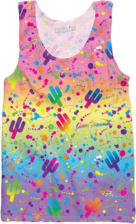 RageOn Lisa Frank Cactus Rainbow Premium All Over Print Tank Top