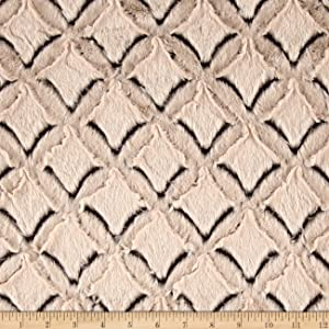 Shannon Fabrics Shannon Minky Frosted Gem Cuddle Brown/Beige Fabric by The Yard