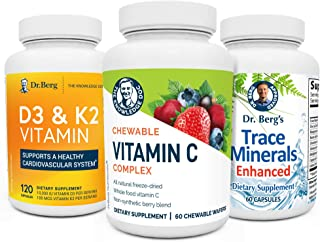 Dr. Berg's Immune Booster Kit - Advanced Healthy Immune System Support Boost Supplements for Men & Women - with Vitamin C,...