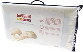 Bassetti Almohada de látex Memory Water – Gel cojín Made in Italy 40 x 70 cm puro algodón