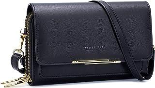 PALAY® Small Crossbody Phone Bag for Women,PU Leather Phone Purse Handbags,Shoulder Handbags with Credit Card Slots