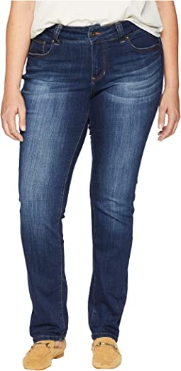 Plus Size Kelso Straight Jeans in Casper Wash