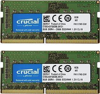 【2枚セット】Crucial ノートPC用 メモリ PC4-21300(DDR4-2666) 8GB SODIMM CT8G4SFS8266【永久保証】 [並行輸入品]