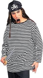 black and white pirate shirt
