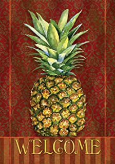 Toland Home Garden 111245 Pineapple Damask, Large-House-28 x 40 Inch, Discontinued