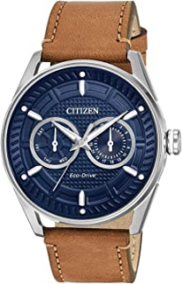 citizen eco drive brown face