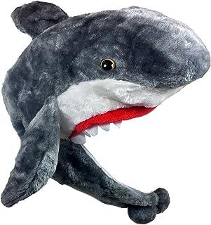 94b084f14e5 Critter Caps Plush Shark Bomber Hat Animal Trooper Aviator Winter Furry Cap