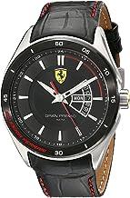 フェラーリ Ferrari Men's 0830183 Gran Premio Analog Display Quartz Black Watch [並行輸入品]