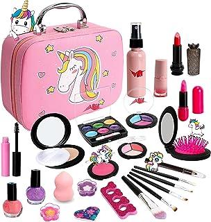 Washable Makeup Girls Cosmetic Toys - Real Make Up Kit Washable Make up Set for Kids Girl Children Princess Play Makeup Ga...