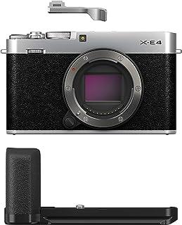 FUJIFILM X-E4 Mirrorless Digital Camera, Silver with MHG-XE4 and TR-XE4