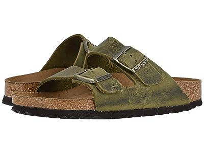 Birkenstock Arizona Soft Footbed (Jade Oiled Leather) Sandals