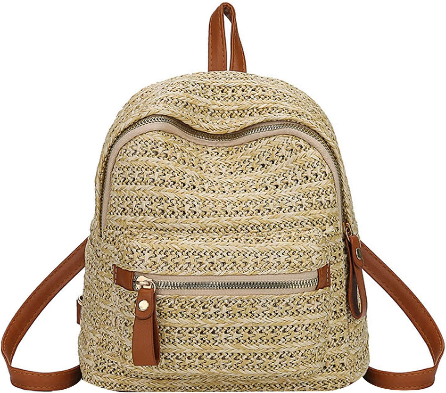 ZLM BAG US Handwoven Straw Backpack Women for Bac Bohemian Max 77% OFF Bargain Beach