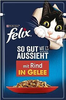 FELIX So gut wie es aussieht Katzenfutter nass in Gelee, mit Rind, 26er Pack 26 x 85g