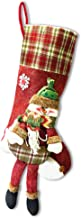 """YuQi Christmas Stockings,21"""" Classic 3D Christmas Santa Claus Stocking for Family Holiday Xmas Party Decorations (Snowman ..."""