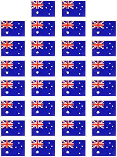 Fiomia Australia National Flag Sticker Temporary Tattoo Face Decal Body Glitter Country Flag Waterproof Removable 30Pcs