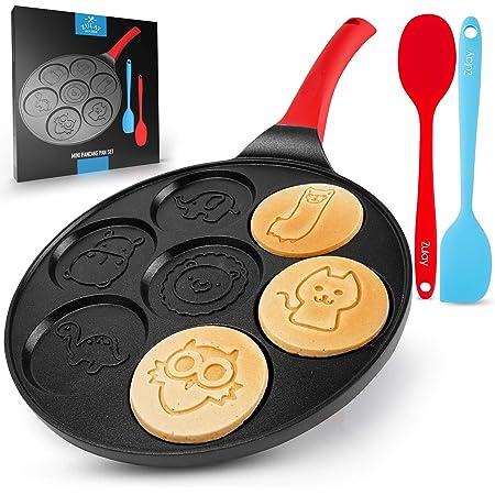 Black Animal KFina Crepe Maker Non-Stick Pancake Pan with Silicone Handle