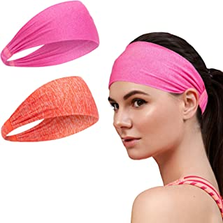 Workout Sweat Bands Headbands for Women - Sport Non-Slip Head Band, Athletic Sweatband, Stretchy Moisture Wicking Hairband...