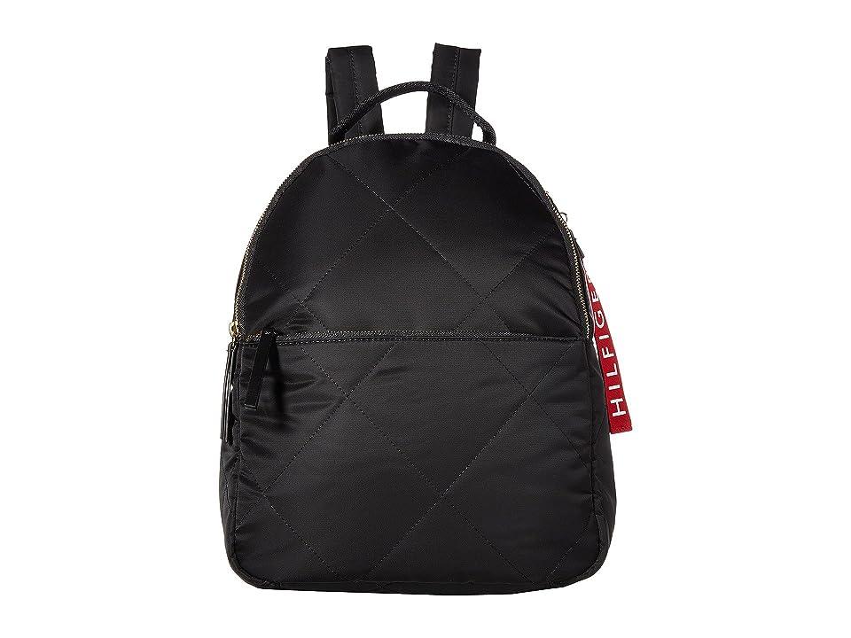 Tommy Hilfiger Kensington Quilt Nylon Backpack (Black) Backpack Bags