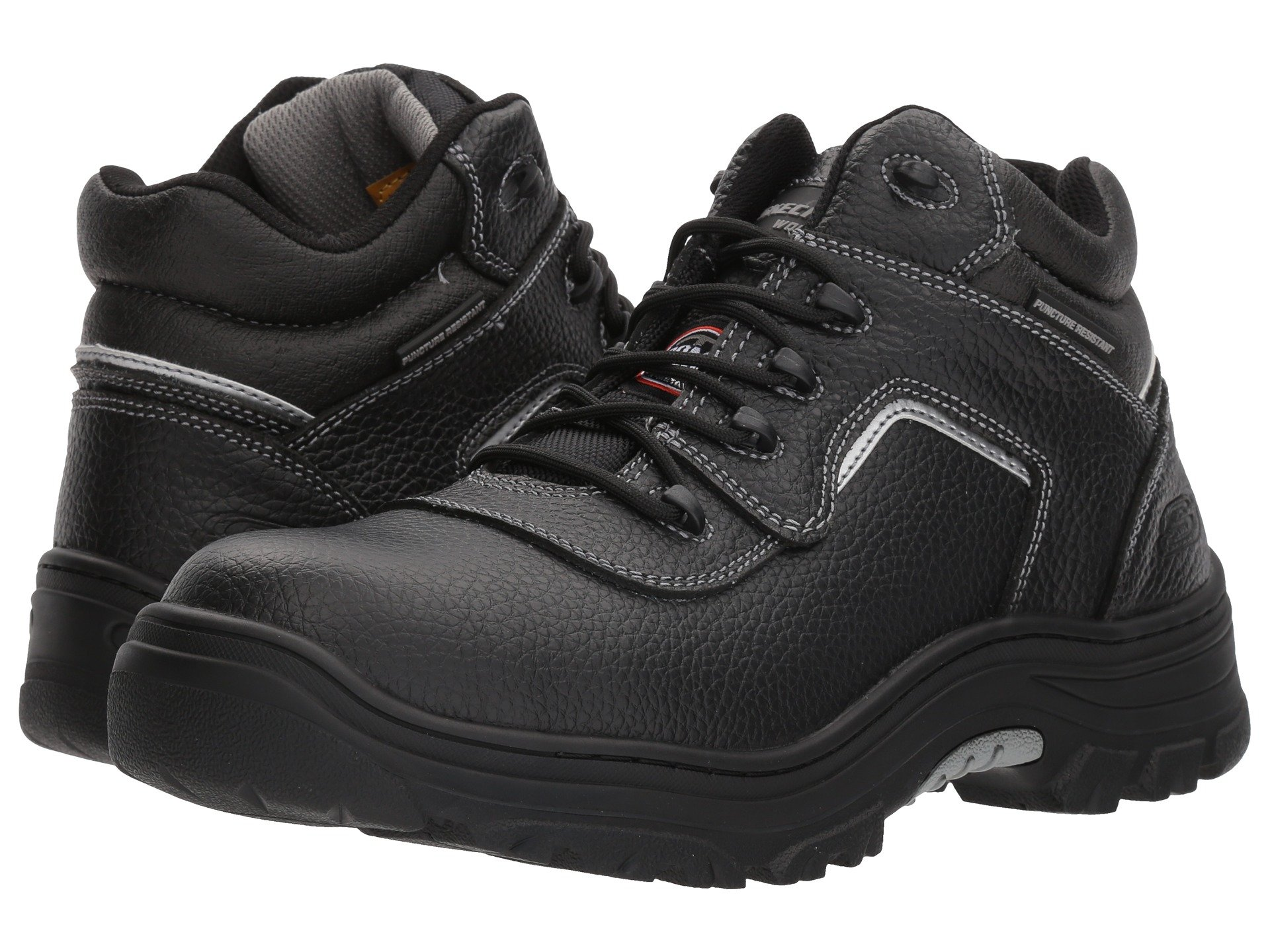 sketcher black mens boots