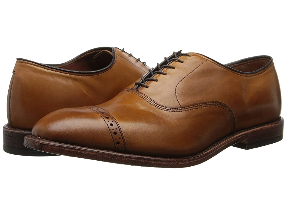 1920s Style Mens Shoes | Peaky Blinders Boots Allen Edmonds Fifth Avenue Walnut Calf Mens Lace Up Cap Toe Shoes $394.95 AT vintagedancer.com