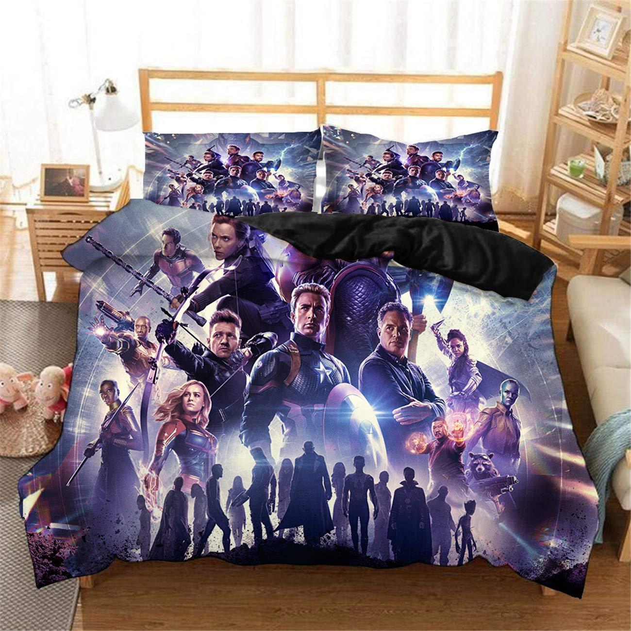 Zi Teng 3d Avengers Movie Duvet Cover Set 2019 Most Popular Movie Marvel Avengers Bedding Set Children Adult Favorite 100 Microfiber Bed Set Twin Full Queen King Size Buy Online In Solomon