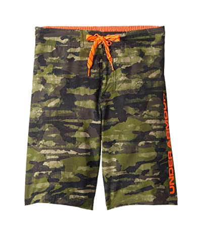 Under Armour Kids Grit 1/2 Back Elastic Boardshorts (Big Kids) (Trail Green) Boy
