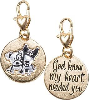 Amanda Blu Two Puppies Charm Love | God Knew My Heart Needed You | Gold 2-Tone Medallion | Women Gold 2-Tone Medallion