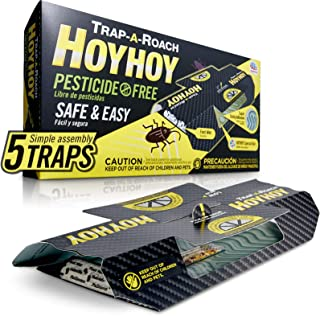HOY HOY Trap A Roach - Pesticide Free Bait Glue Traps, Indoor Home, Sticky Pest Control Trap, Roach Killer, Made in Japan ...