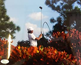 Signed Rickie Fowler Photograph - Cadillac Championship 8x10 N35193 - JSA Certified - Autographed Golf Photos