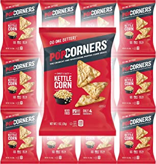 Popcorners Sweet & Salty Kettle Corn, Carnival Kettle Crispy and Crunchy Popped Corn Chips, Gluten-Free, 1oz Bag (Pack of ...