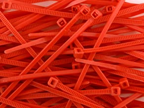 200 Red Cable Ties, Strong Nylon, 100mm x 2.5mm