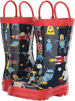 Space Aliens Rain Boots (Toddler/Little Kid)