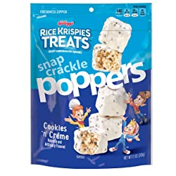 Rice Krispies Treats Poppers, Crispy Marshmallow Squares, Cookies n' Crème, 7.1Ounce Bag
