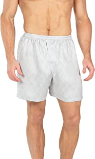 TexereSilk Men's 100% Silk Boxer Shorts - Luxury Underwear (Executive Lounge)