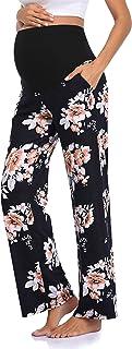 JOYMOM Maternity Full Panel Soft Casual Pants Loose Straight Pregnancy Trousers