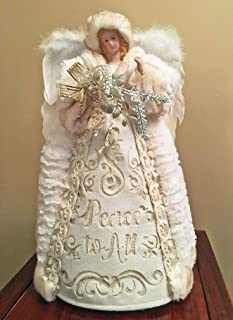 Christmas Tree Toppers - Peace ON Earth Angel Tree Topper - 16
