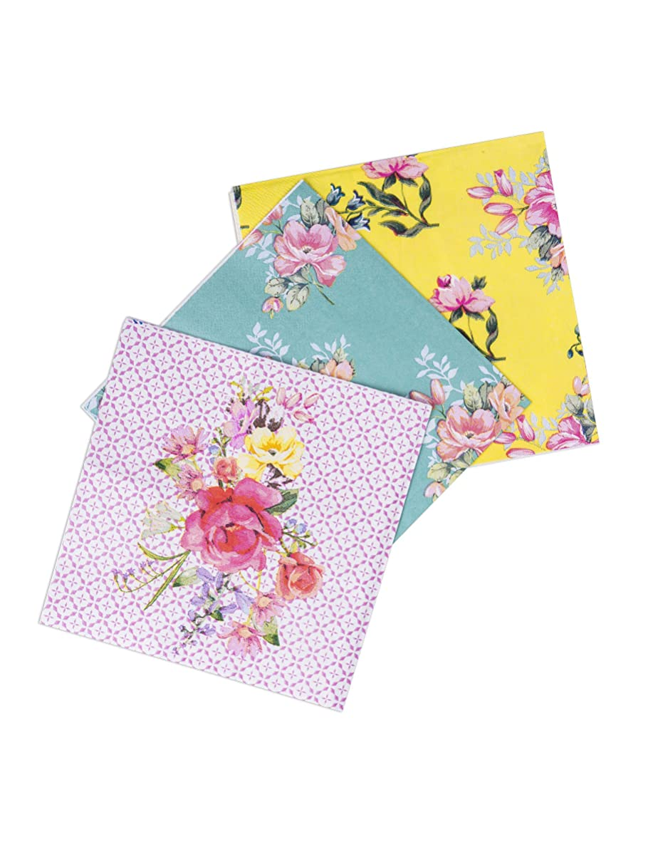 Luck Vintage Floral Assorted Tea Time Pape Napkins x 18 Afternoon Tea Party
