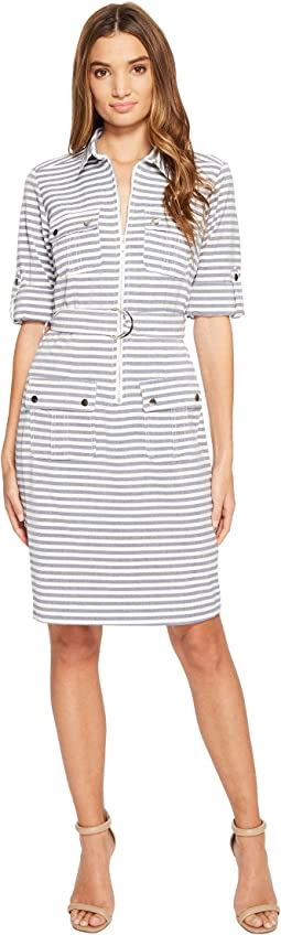 Christin Michaels - Stare Stripe Shirtdress